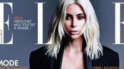 Kim Kardashian's Blond Hair Immortalized On The Cover Of Elle