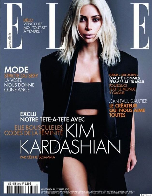 Kim Kardashian Stuns In All-Black Look For Elle