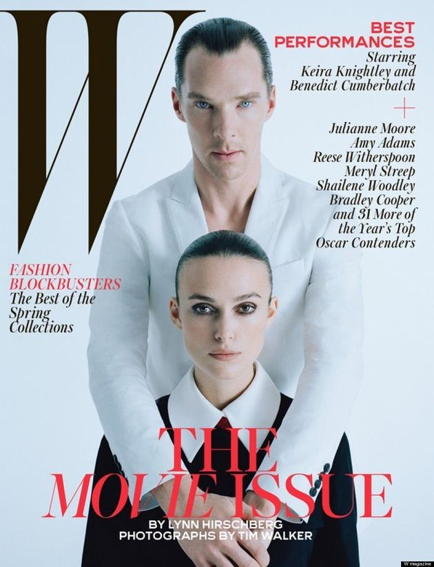 Benedict Cumberbatch's Slicked Back Hair Covers W Magazine's Movie