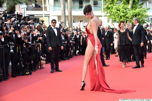 Bella Hadid Wears Quite Possibly The Sexiest Dress Of All-Time To 2016 Cannes Film