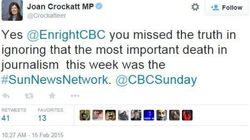 MP's Tweet Over 'Most Important Death' In Journalism Draws