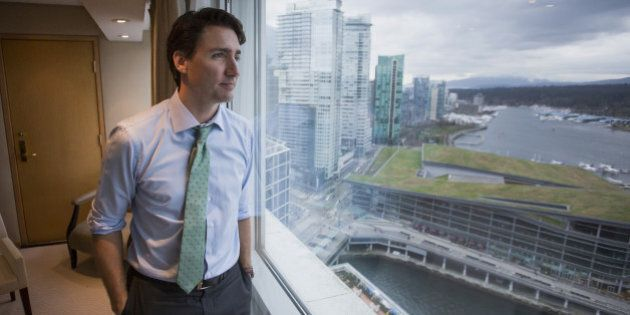 Justin Trudeau, Canada's prime minister, stands for a photograph after an interview in Vancouver, British...