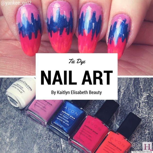 Nail Art: An Easy Tie Dye Design For