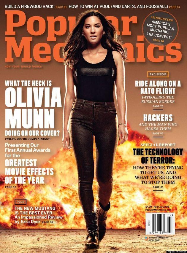 Olivia Munn Heats Up Popular Mechanics