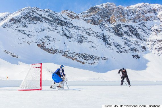 The Most Unforgettable Hockey Game Requires The Most Unbelievable Rink