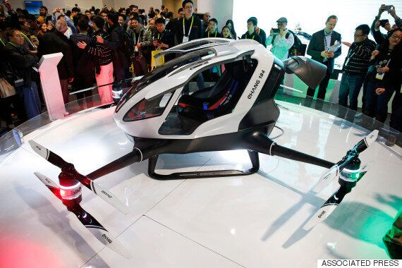 Ehang 184 Passenger Drone Unveiled, And 'Blade Runner' Future Is Within