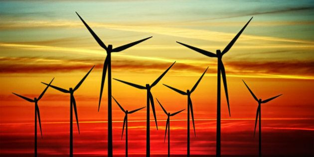 wind turbines at