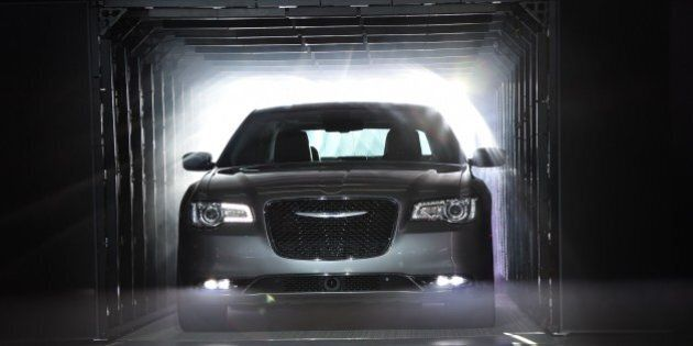 The 2015 Chrysler 300 C is unveiled at the Los Angeles Auto Show, November 19, 2014 in Los Angeles, California....