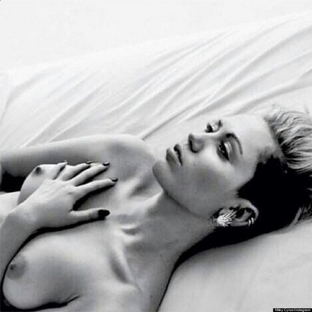 Miley Cyrus Supports 'Free The Nipple' With Topless