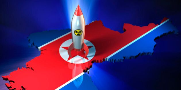 High quality 3d render of North Korea with Nuclear Warhead. Clipping path included.MORE LIKE