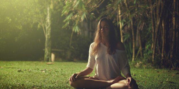 Yoga exercise in Sri