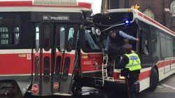 TTC Streetcar, Bus Collision Injures