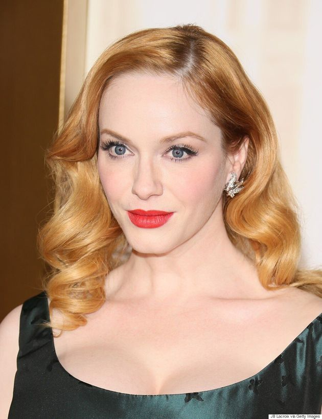 Christina Hendricks Wears A Two-In-One Dress, Wows Us