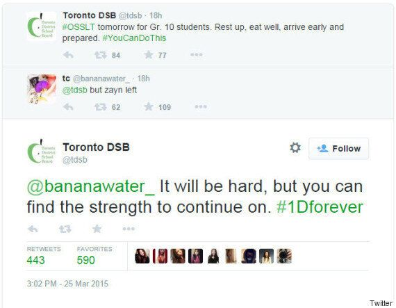 Toronto District School Board Understands Your Zayn Malik