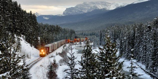 Train Derailment Near Banff Sends CP Cargo Into