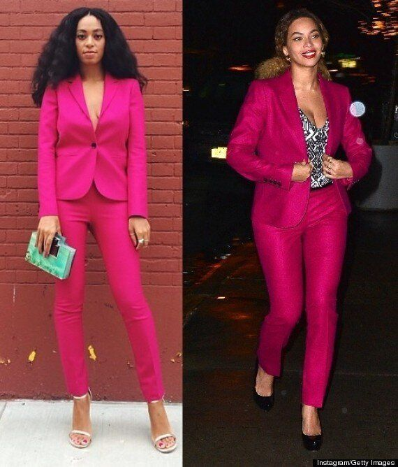 Beyonce's Hot Pink Gucci Suit Is From Solange's