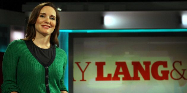 CBC business reporter Amanda Lang on the set of her Lang & O'leary Exchange in Toronto. May 18, 2011 STEVE RUSSELL/TORONTO STAR (Photo by Steve Russell/Toronto Star via Getty Images)