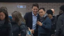 Trudeau Surprises Commuters Day After Big