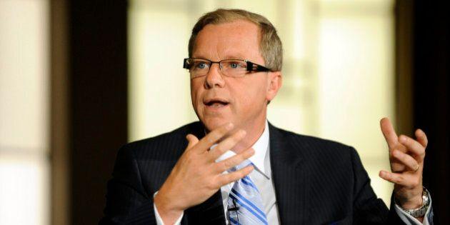 Brad Wall, premier of Saskatchewan, speaks during the Bloomberg via Getty Images Canada Economic Summit...