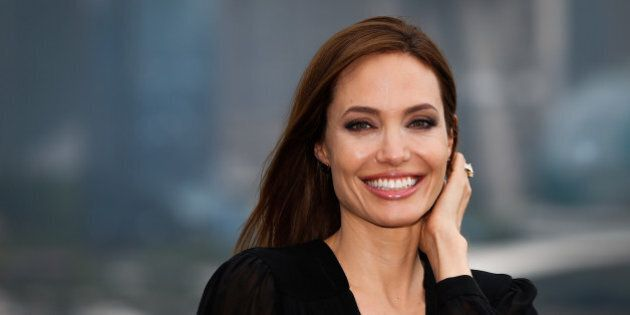 SHANGHAI, CHINA - JUNE 03: (CHINA OUT) Actress Angelina Jolie attends 'Maleficent' photocall at The Bund...
