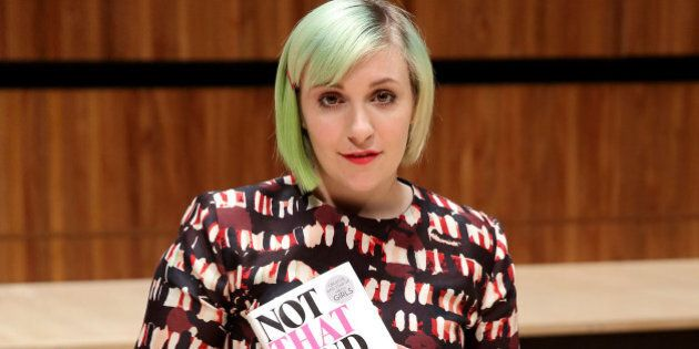 LONDON, ENGLAND - OCTOBER 31:  Lena Dunham launches her book 'Not That Kind Of Girl' at the Southbank Centre's Royal Festival Hall on October 31, 2014 in London, England.  (Photo by Mike Marsland/WireImage)