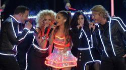 Ariana Grande Glows In The Dark At CMA