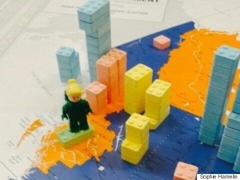 Canada's New Parliament... In Lego Candy (And Party Leaders As
