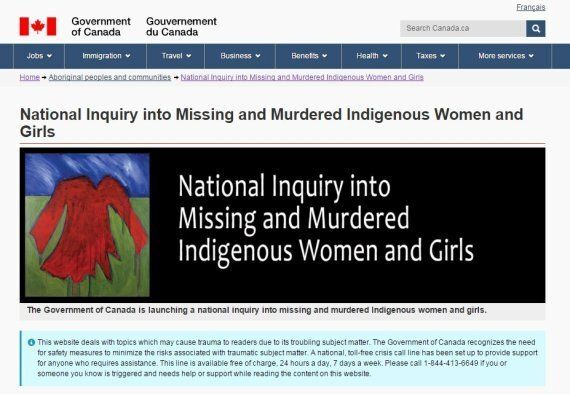 Trigger Warning Added To Indigenous Affairs Page On MMIW