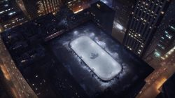 Hockey Rink Appears On Top Of Toronto