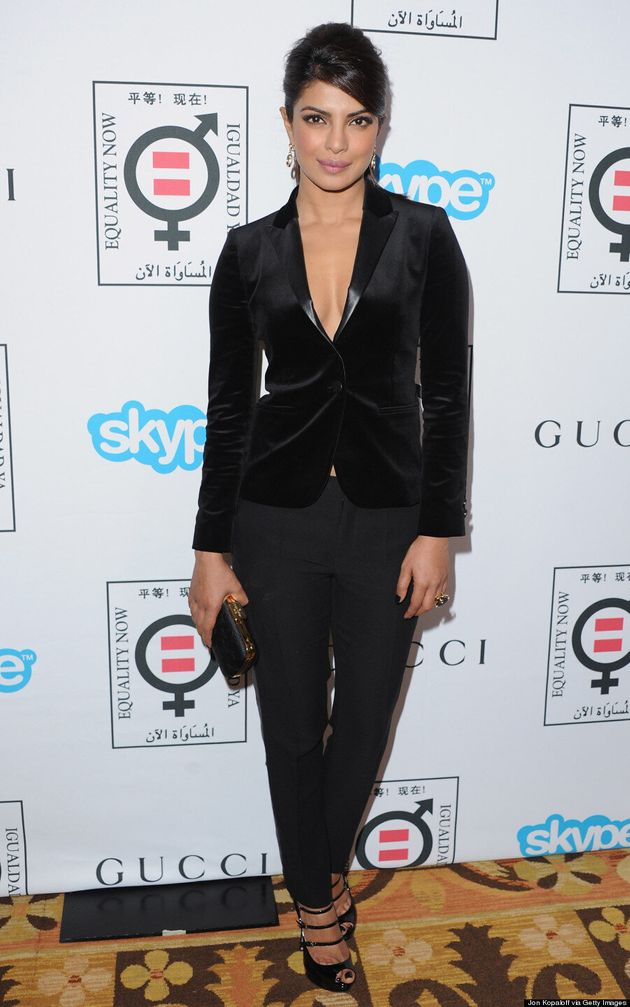 Priyanka Chopra's Black Suit Is Anything But