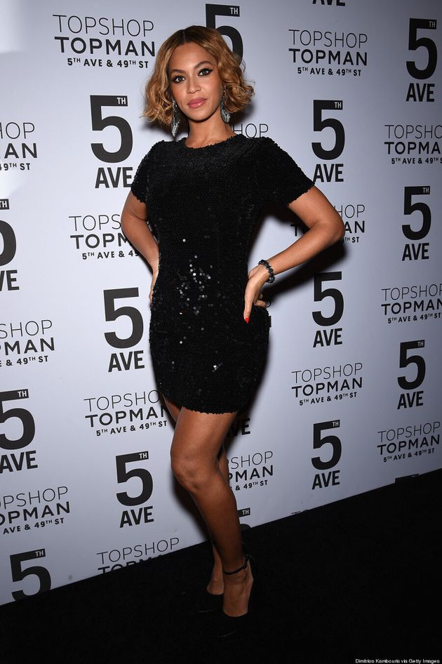 Beyonce Wears $130 Topshop Dress (And Looks Fab,