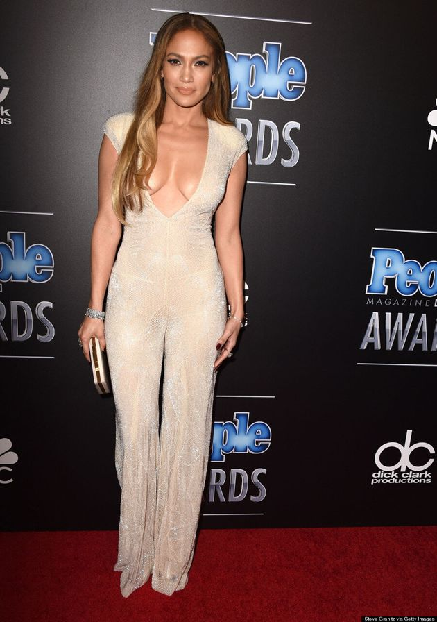 Jennifer Lopez's Plunging Jumpsuit Steals The Show At People Magazine