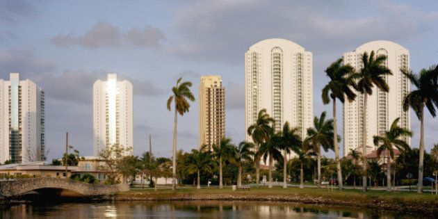 view of residential towers in Sunny Isles,