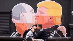 Lithuanian Artist Makes Massive Poster Of Trump And Putin