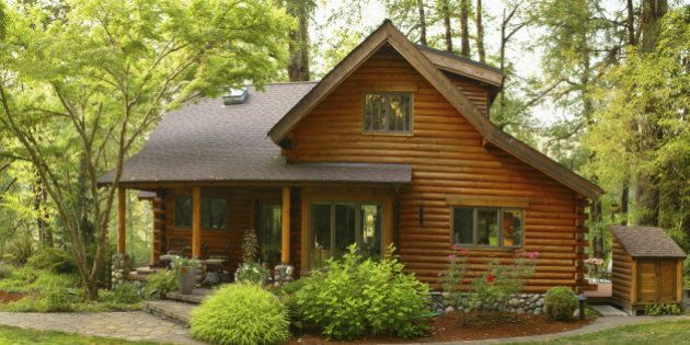 Oregon Forest Modern Log Cabin