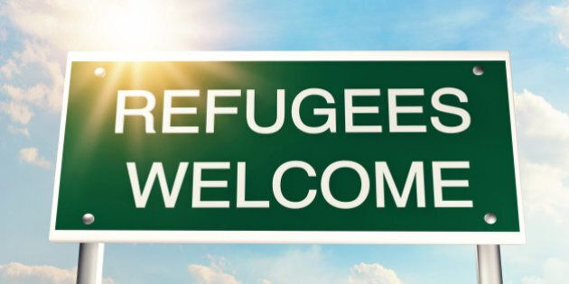 Refugees welcome as a road
