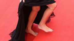 Guess Who Went Barefoot On The Cannes Red
