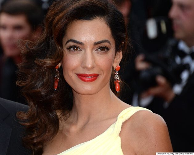 Cannes 2016: Amal Clooney Stuns In Flowy Atelier Versace Gown At 'Money Monster'