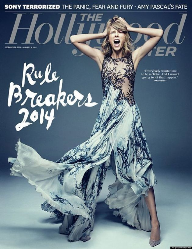 Taylor Swift Screams In A Fabulous Dress On Cover Of Hollywood