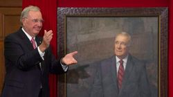 Paul Martin Throws Shade At Tories During His Portrait