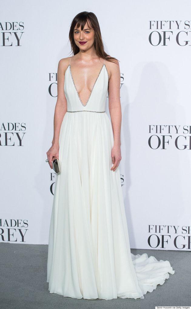 Dakota Johnson Is Sinfully Angelic At 'Fifty Shades Of Grey'