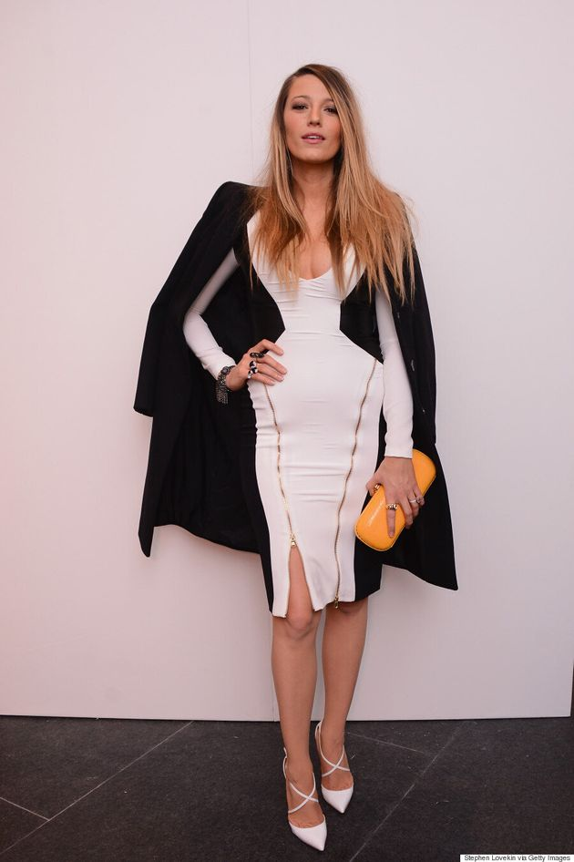 Blake Lively Cuts A Striking Figure In Bodycon Illusion