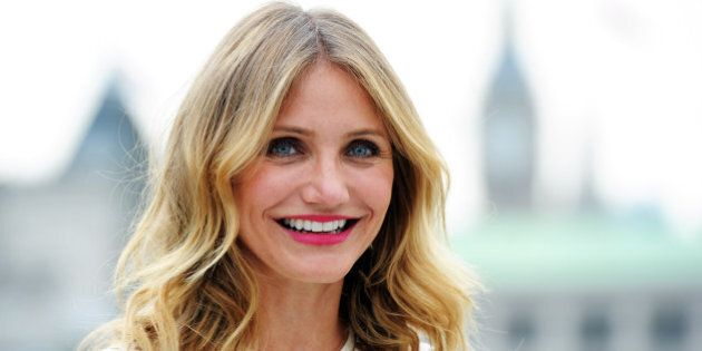 LONDON, ENGLAND - SEPTEMBER 03: Cameron Diaz attends a photocall for 'Sex Tape' at Corinthia Hotel London...