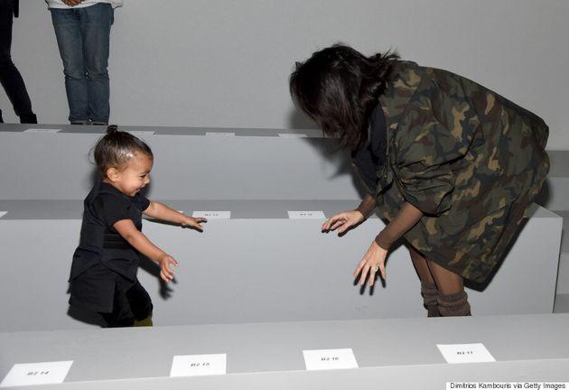 Kim Kardashian Basically Wore A Leotard To Kanye West's Adidas