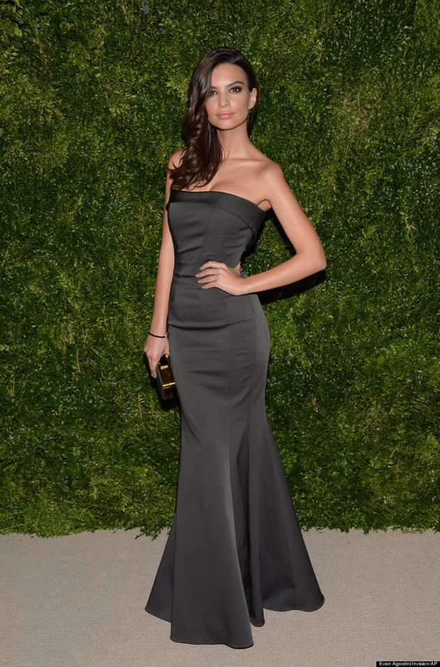 Emily Ratajkowski Goes Glam At CFDA/Vogue Fashion Fund
