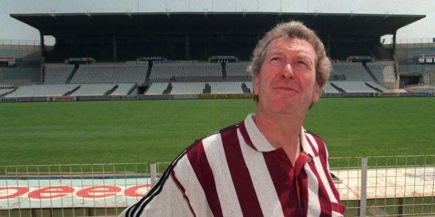 Photo taken on July 13, 1996 shows Robert Louis-Dreyfus, then Adidas chairman, posing at the Stade Velodrome...
