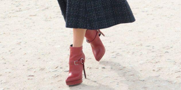 PARIS, FRANCE - MARCH 07: Fashion blogger Mariah Maia wears Saint Laurent boots, Salvatore Ferragamo...