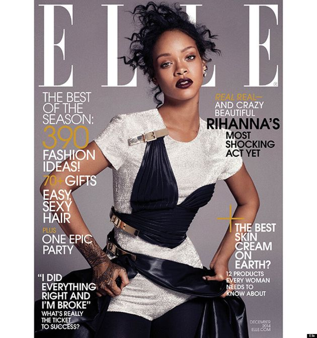 Rihanna Goes Topless For Elle Magazine