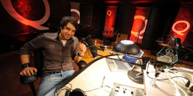 TORONTO, ON - MAY 6: Jian Ghomeshi, host of CBC-Radio morning show, Q, in the Q studio at CBC. (Rick...
