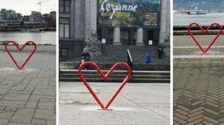 Heart-Shaped Bike Racks, Because
